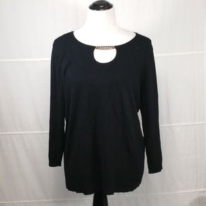 Cable & Gauge black shirt blouse top long sleeve